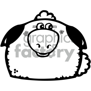 cartoon clipart gumdrop animals 004 bw clipart. Royalty-free image # 404938