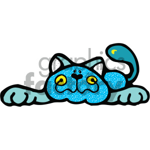 cartoon clipart cat 005 c