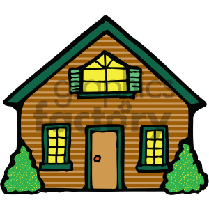 house 001 c clipart. Royalty-free image # 405046