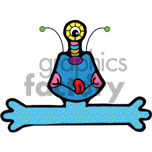 vector art monster 001 c clipart. Royalty-free image # 405056