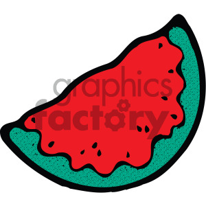watermelon slice cartoon clipart. Commercial use image # 405093