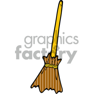cartoon broom clipart clipart. Royalty-free image # 405167