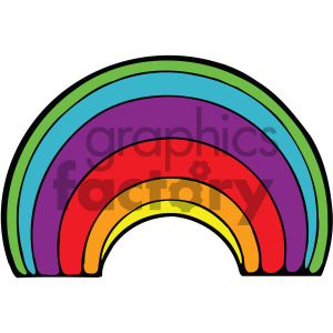 cartoon rainbow vector clipart clipart. Royalty-free image # 405227