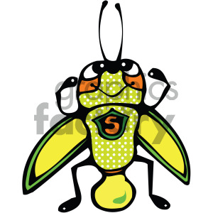 cartoon grasshopper vector art clipart. Royalty-free image # 405261