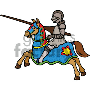 vector knight cartoon art clipart. Commercial use image # 405285