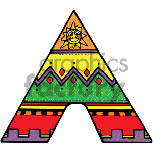 Indian tent cartoon vector art clipart. Royalty-free icon # 405304