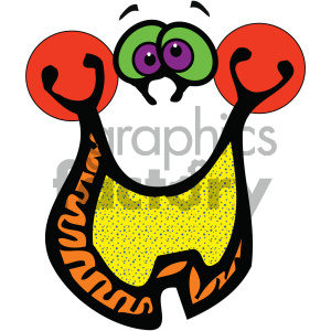cartoon pumpkin funny vector