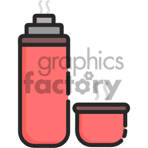 thermos vector royalty free art clipart. Royalty-free image # 405389