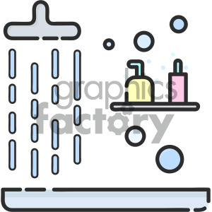shower vector icon clipart. Royalty-free image # 405393