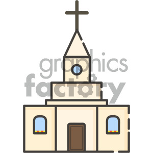 church vector royalty free icon art clipart. Commercial use image # 405396