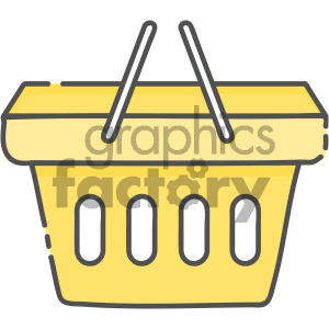 shopping basket vector royalty free icon art clipart. Commercial use image # 405408