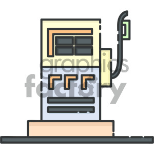 vector gas pump clipart. Royalty-free image # 405418