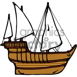 old ship cartoon image clipart. Royalty-free image # 405476