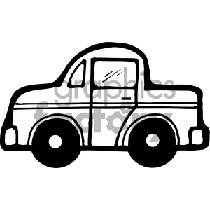 black and white car vector art clipart. Royalty-free image # 405477