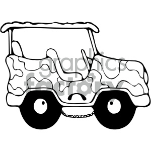black and white jeep clipart. Royalty-free image # 405478