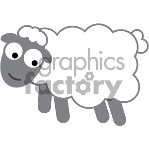 cartoon sheep vector image clipart. Commercial use image # 132058
