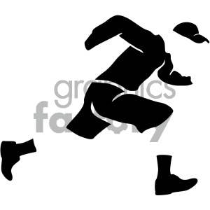 person running vector icon clipart. Royalty-free image # 405515