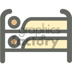bunk loft bed furniture icon clipart. Royalty-free icon # 405640
