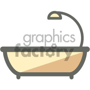 bathtub furniture icon clipart. Royalty-free image # 405691