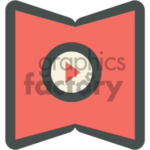 video tutorial education icon clipart. Royalty-free image # 405712