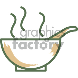 bowl soup food vector flat icon design clipart. Royalty-free image # 405719