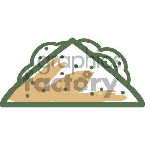 taco food vector flat icon design clipart. Royalty-free image # 405720