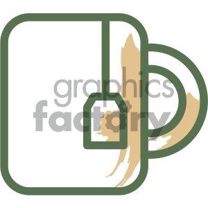 cup of tea food vector flat icon design clipart. Royalty-free icon # 405734