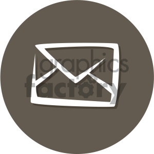 envelope mail circle background vector flat icon