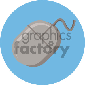 computer mouse circle background vector flat icon