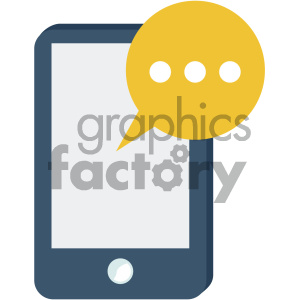 mobile notifications vector flat icon clipart. Royalty-free icon # 405860