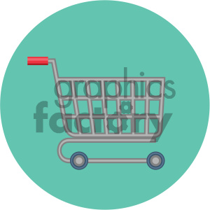 shopping cart circle background vector flat icon clipart. Royalty-free image # 405862