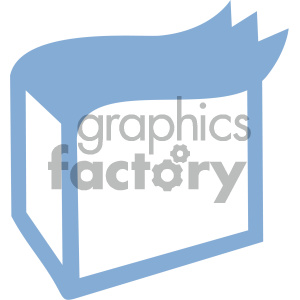 delivery box vector icon art clipart. Royalty-free image # 405892