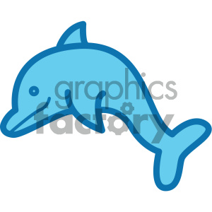 dolphin ocean icon clipart. Royalty-free image # 405924
