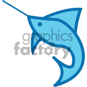 swordfish ocean icon clipart. Commercial use image # 405925