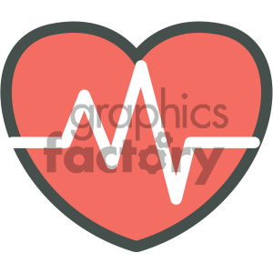 heart ekg medical vector icon clipart. Commercial use image # 405938