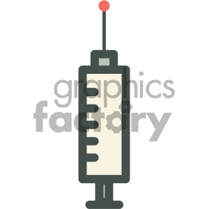 syringe medical vector icon clipart. Royalty-free image # 405953