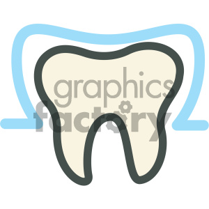 tooth sealant dental vector flat icon designs clipart. Royalty-free image # 405973