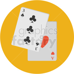 cards icon with yellow circle background clipart. Royalty-free image # 406067