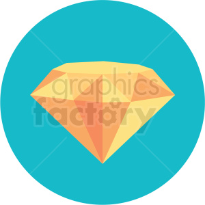 diamond icon with blue circle background clipart. Royalty-free icon # 406071