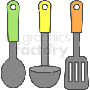 utensils vector icon art clipart. Royalty-free image # 406100