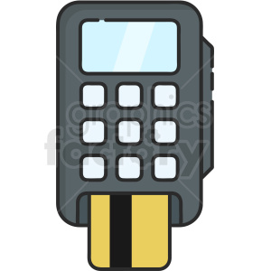 card machine vector icon art clipart. Commercial use image # 406108