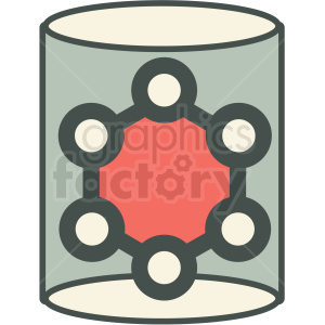 carbon nanotube technology icon clipart. Royalty-free image # 406141