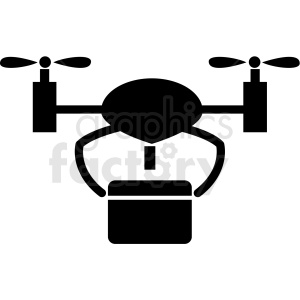 drone delivery tech icon clipart. Royalty-free icon # 406178