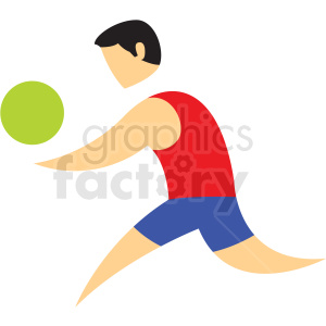 volleyball sport icon clipart. Commercial use image # 406219