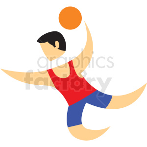 basketball dunk sport character icon clipart. Commercial use image # 406221