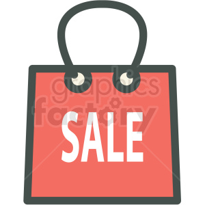 sale shopping bag vector icon clip art clipart. Commercial use image # 406254