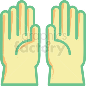 rubber gloves flat vector icon clipart. Commercial use image # 406311