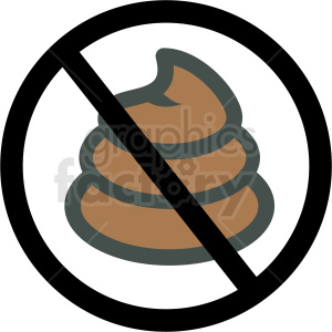 anti dog poo vector icon clipart. Commercial use image # 406388