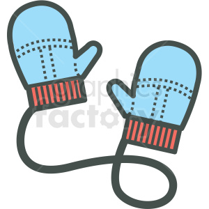 winter mittens vector icon clipart. Commercial use image # 406452