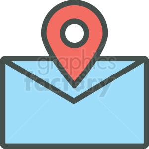 envelope locaton marker vector icon clipart. Royalty-free image # 406480